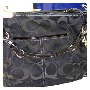 Coach black signature C Handbag